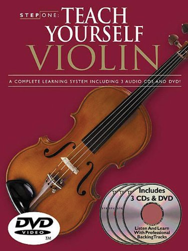 9780825629594: Step One Teach Yourself Violin: A Complete Learning System Including 3 Audio Cds and DVD!
