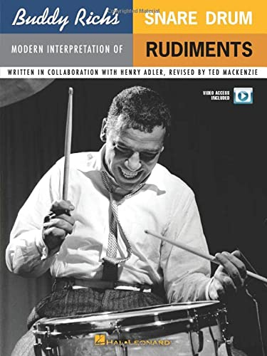 9780825634659: Buddy Rich's Modern Interpretation of Snare Drum Rudiments: Book/2-DVDs Pack