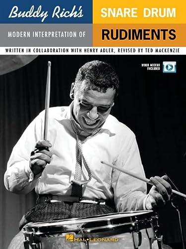 9780825634659: Buddy Rich's Modern Interpretation of Snare Drum Rudiments: Book/2-DVDs Pack