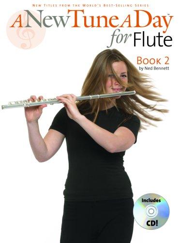 NEW TUNE A DAY FOR FLUTE BOOK 2 BK/CD: Bennett, Ned