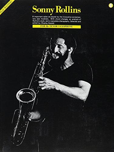 9780825642005: Sonny Rollins - Jazz Masters Series (Saxophone)