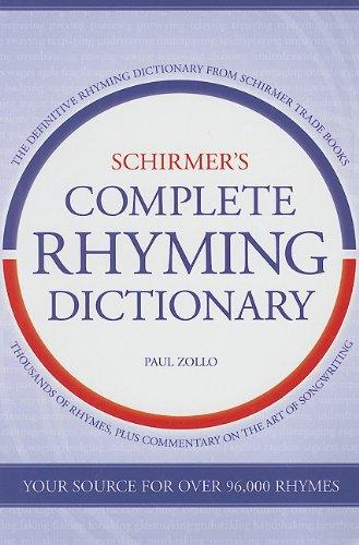 9780825673498: Schirmer's Complete Rhyming Dictionary