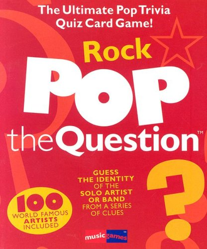 9780825684098: Pop The Question Rock (Music Games)