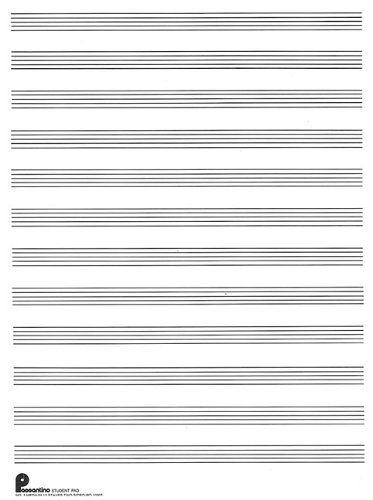 9780825690419: Passantino Music Papers: No. 1, 12 Stave (Both Sides), Writing Pad Size 9 x 12