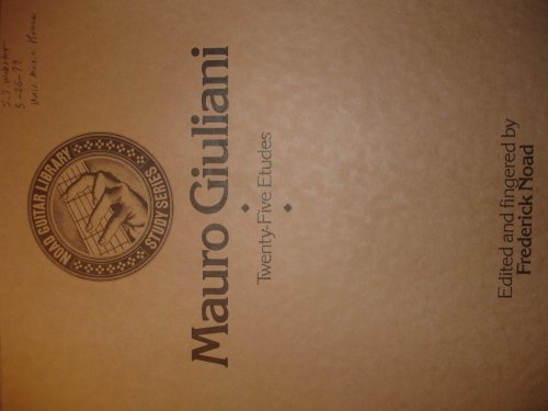 9780825699542: Mauro Giuliani: Twenty-five Etudes (Noad Guitar Library - Study Series)