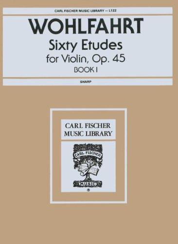 9780825800269: Wohlfahrt: Sixty Etudes for Violin, Op. 45 Book 1