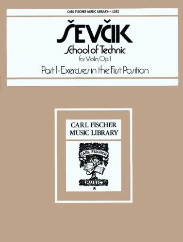 9780825800344: L282 - Sevcik - School of Technic for Violin Op. 1 - Part 1