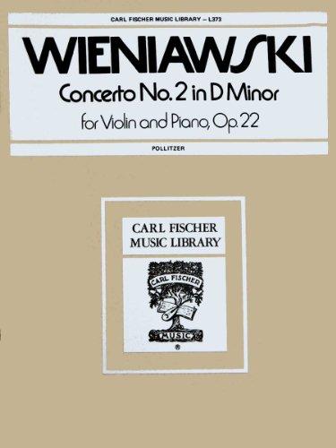 9780825800467: Concerto No.2 In D Minor - Henryk Wieniawski - Pollitzer - Carl Fischer - Violin, Piano - Violin with Piano - L373