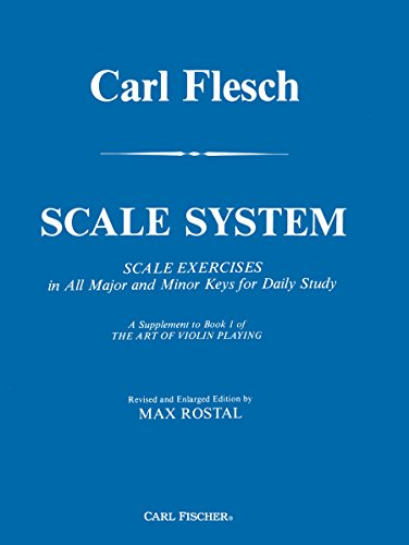 9780825801785: Carl Flesch Scale System A Supplement to Book 1 of The Art of Violin Playing