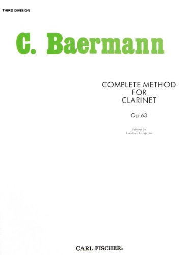 9780825802157: Complete Method for Clarinet: Third Division