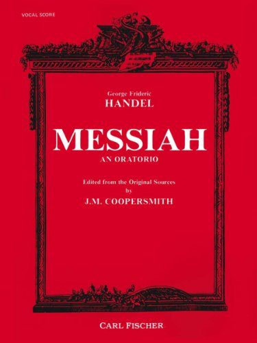 9780825802997: Messiah Vocal Score