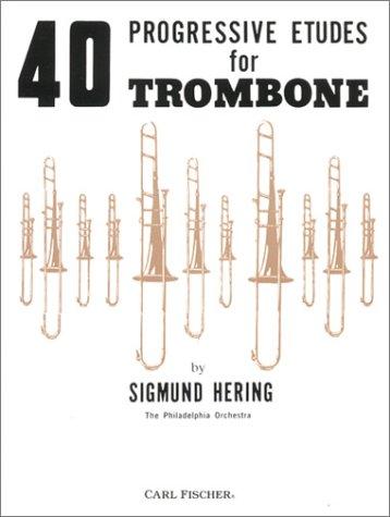 9780825803147: Hering: 40 Progressive Etudes for Trombone
