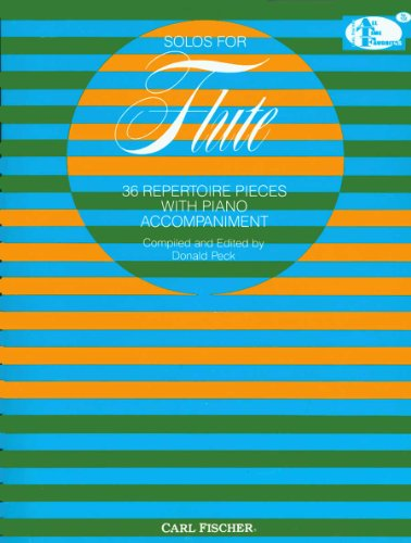 9780825803468: Solos for Flute: 36 Repertoire Pieces with Piano Accompaniment