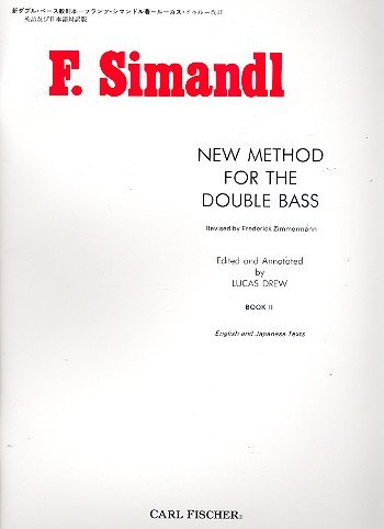 9780825803635: New Method for the Double Bass: English and Japanese Texts