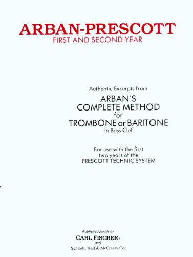 9780825803727: First and Second Year Trombone or Baritone