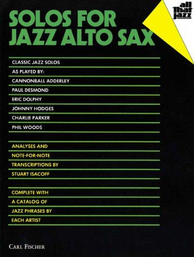 9780825803826: Solos for Jazz Alto Sax