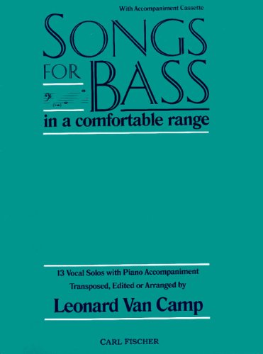 9780825804045: O5201 - Songs for Bass in a Comfortable Range - 13 Vocal Solos