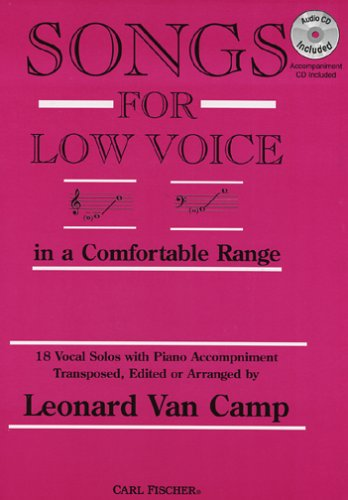 9780825804106: Songs for Low Voice in a Comfortable Range (Book & Cassette Tape)