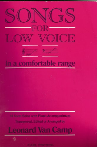 9780825804113: Songs for Low Voice in a Comfortable Range