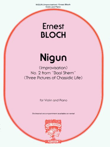 9780825810817: Bloch: Nigun (Improvisation) No. 2 from