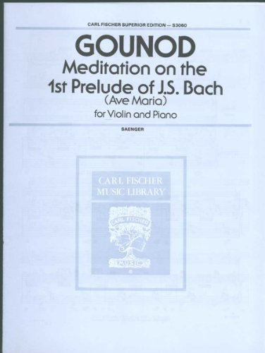 9780825810886: GOUNOD - Ave Maria para Violin y Piano (Saenger)