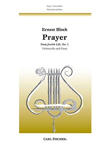 9780825811722: Ernest Bloch Prayer (From Jewish Life No.1) Vlc