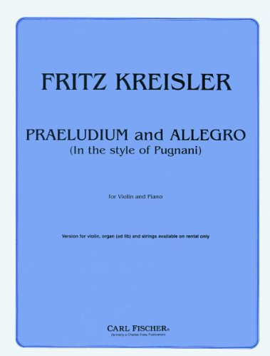 9780825820748: Praeludium and Allegro (In the Style of Pugnani)