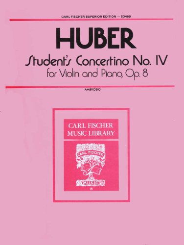 9780825824227: Student's Concertino No. IV op. 8