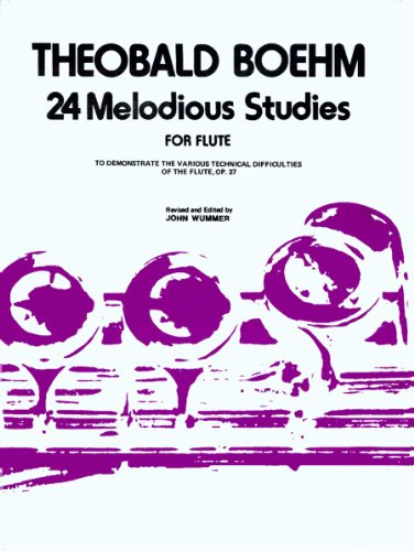 9780825825705: O84 - 24 Melodious Studies for Flute