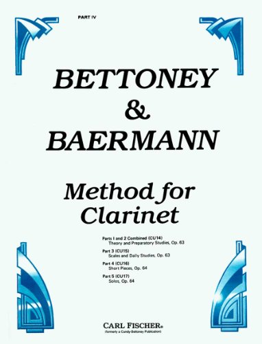 9780825826245: CU16 - Method for Clarinet - Part 4
