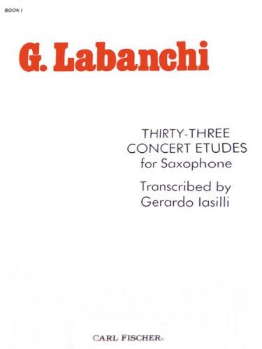 9780825826368: O2329 - Thirty-Three Concert Etudes for Saxophone - BK 1