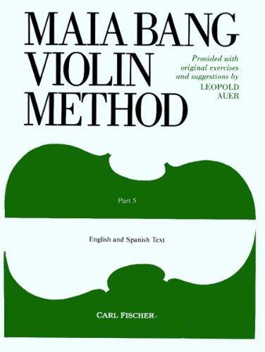 Maia Bang Violin Method, Part 5: Auer, Leopold