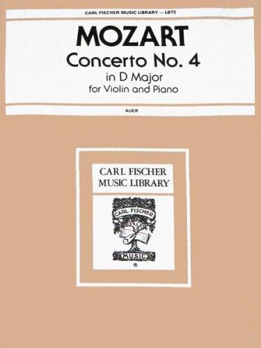9780825833076: Concerto No. 4 in D Major, for Violin and Piano