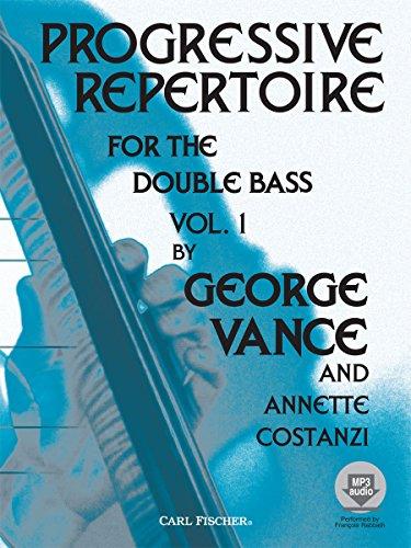 9780825833298: Progressive Repertoire For The Double Bass - Book 1 (Book/CD). Partituras, CD para Contrabajo