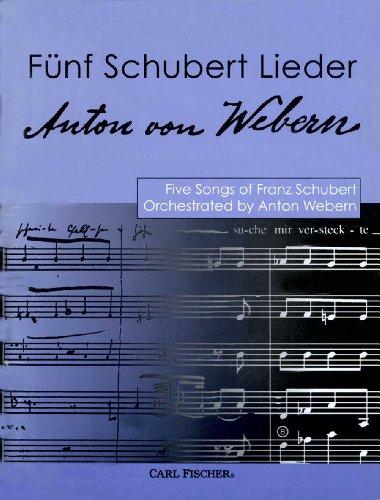9780825839580: Funf Schubert Lieder