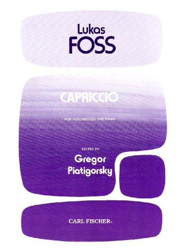 9780825840227: Capriccio - for Violincello and Piano
