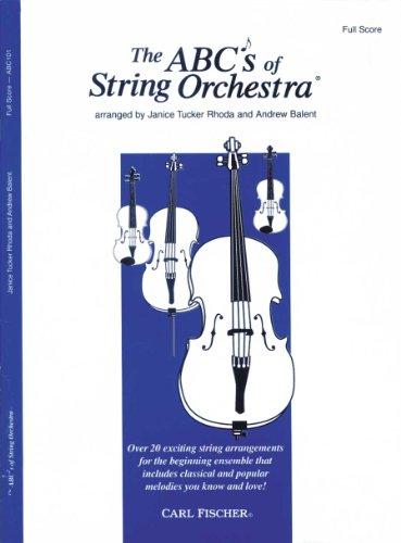 The ABCs of String Orchestra - Full Score: Janice Tucker Rhoda