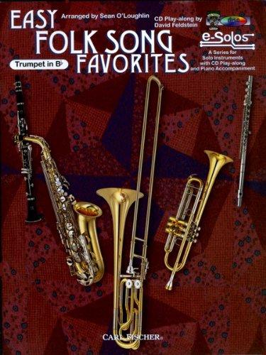 9780825842405: O5532 - Easy Folk Song Favorites: Trumpet BK/CD
