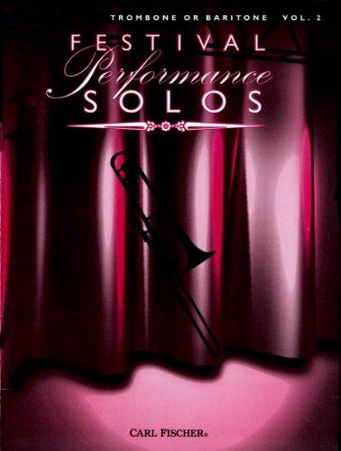 9780825845499: Festival Performance Solos Trombone or Baritone Vol.2