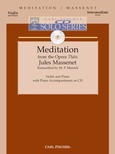9780825857799: Meditation from the Opera Thais - Intermediate - Violin & Piano - BK/CD