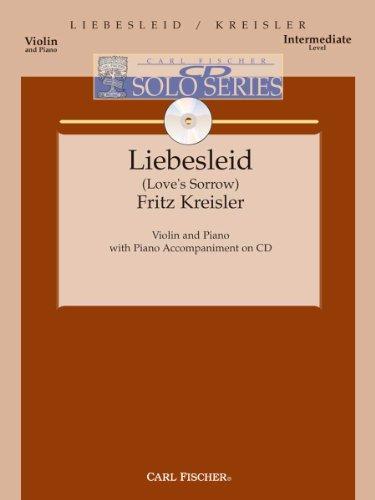Fritz Kreisler Liebesleid Piano Solo Sheet Music Abebooks