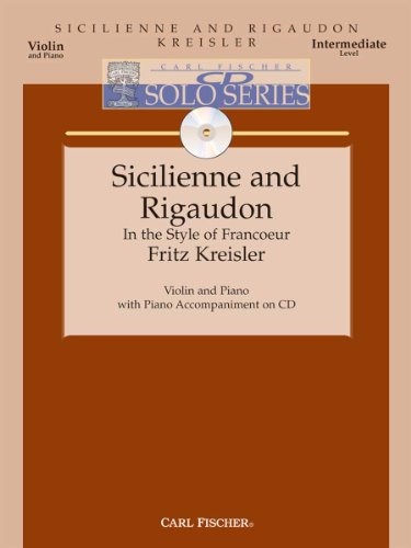 Sicilienne And Rigaudon - Violin Solo, Piano: Fritz Kreisler