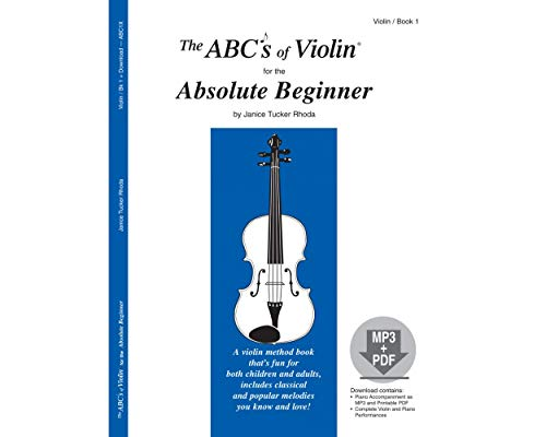 9780825871245: The ABCs of Violin for the Absolute Beginner, Book 1 (Book & MP3/PDF)