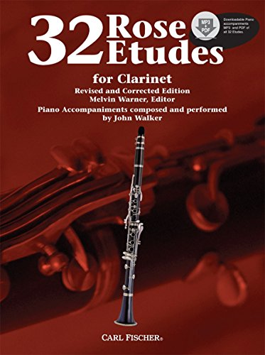 9780825871306: WF85 - 32 Rose Etudes for Clarinet Book w/CD