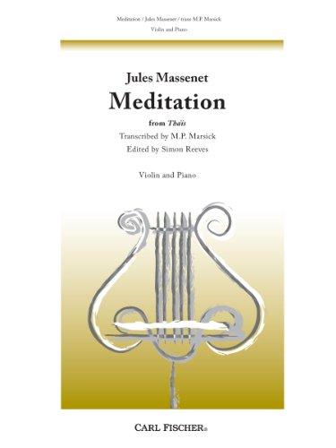 9780825871870: Meditation (for Violin)