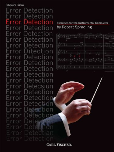 9780825872129: Error Detection: Exercises for the Instrumental Conductor - Student Edition