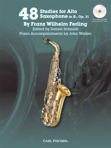 9780825873010: 48 Studies for Alto Saxophone in Eb, Op. 31 w/CD