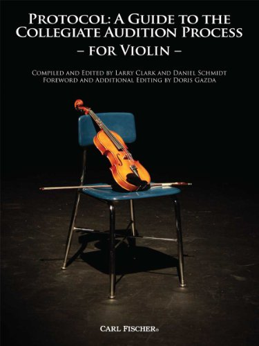 9780825882715: BF55 - Protocol: A Guide to the Collegiate Audition Process for Violin