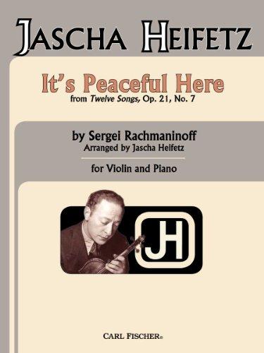 It's Peaceful Here From 12 Songs, Op. 21, No. 9: Sergei Rachmaninoff