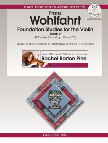 9780825890574: Foundation Studies for the Violin, Book 2: 42 Studies From Opp. 45 and 74 (w/DVD)